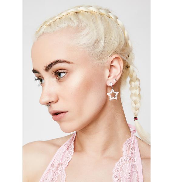 Pearly Night Earrings