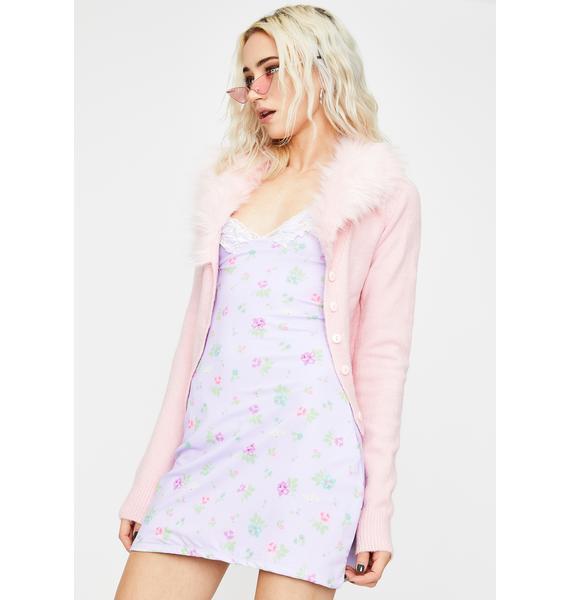 O Mighty Purple Flower Power Cami Dress