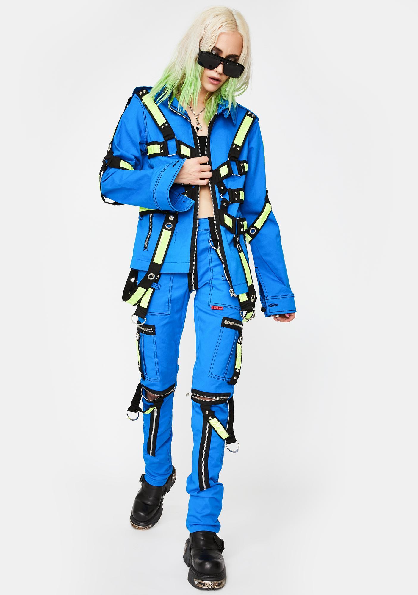 Tripp NYC Blue Electric Reflective Jacket