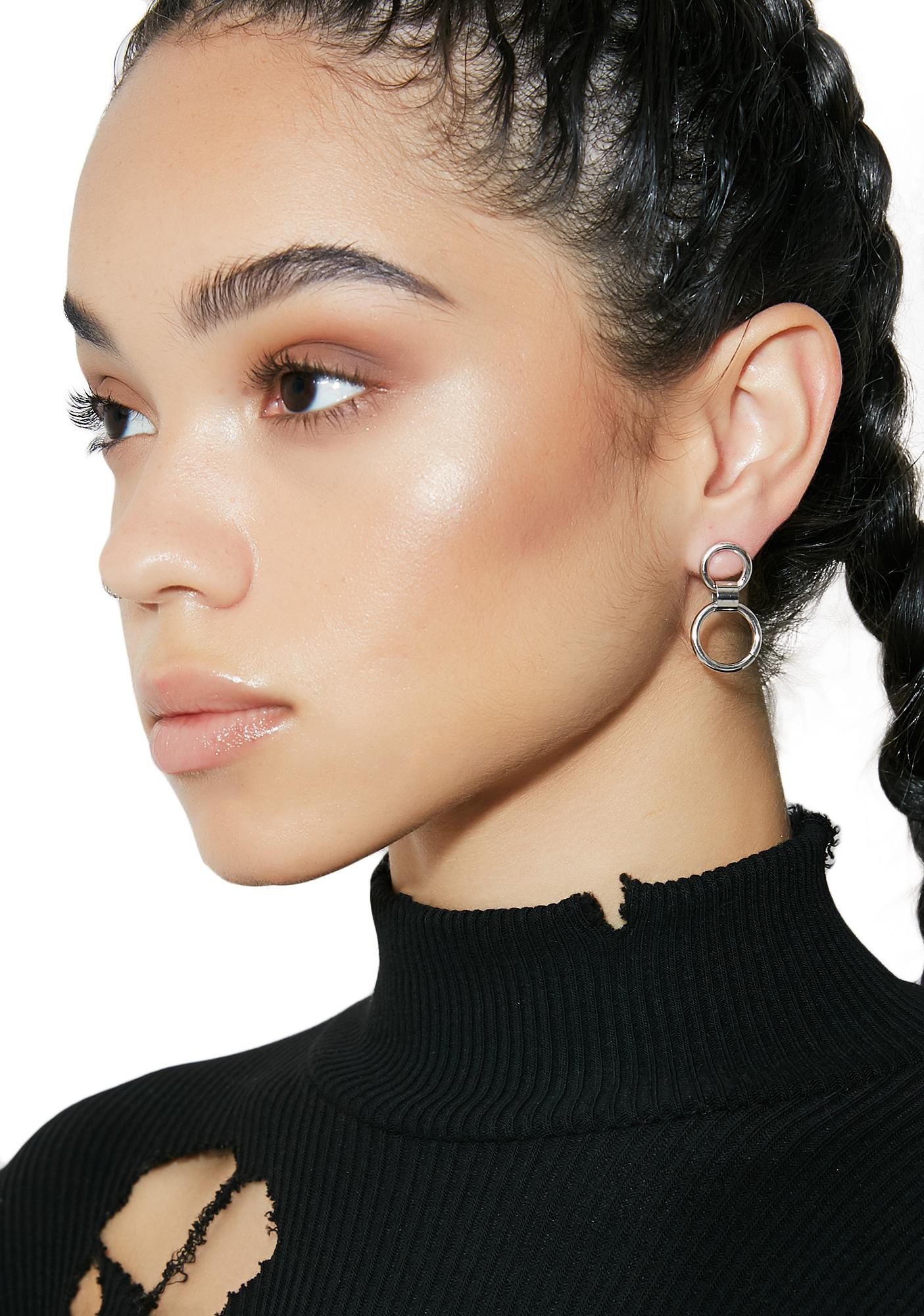 Double Up Circle Earrings