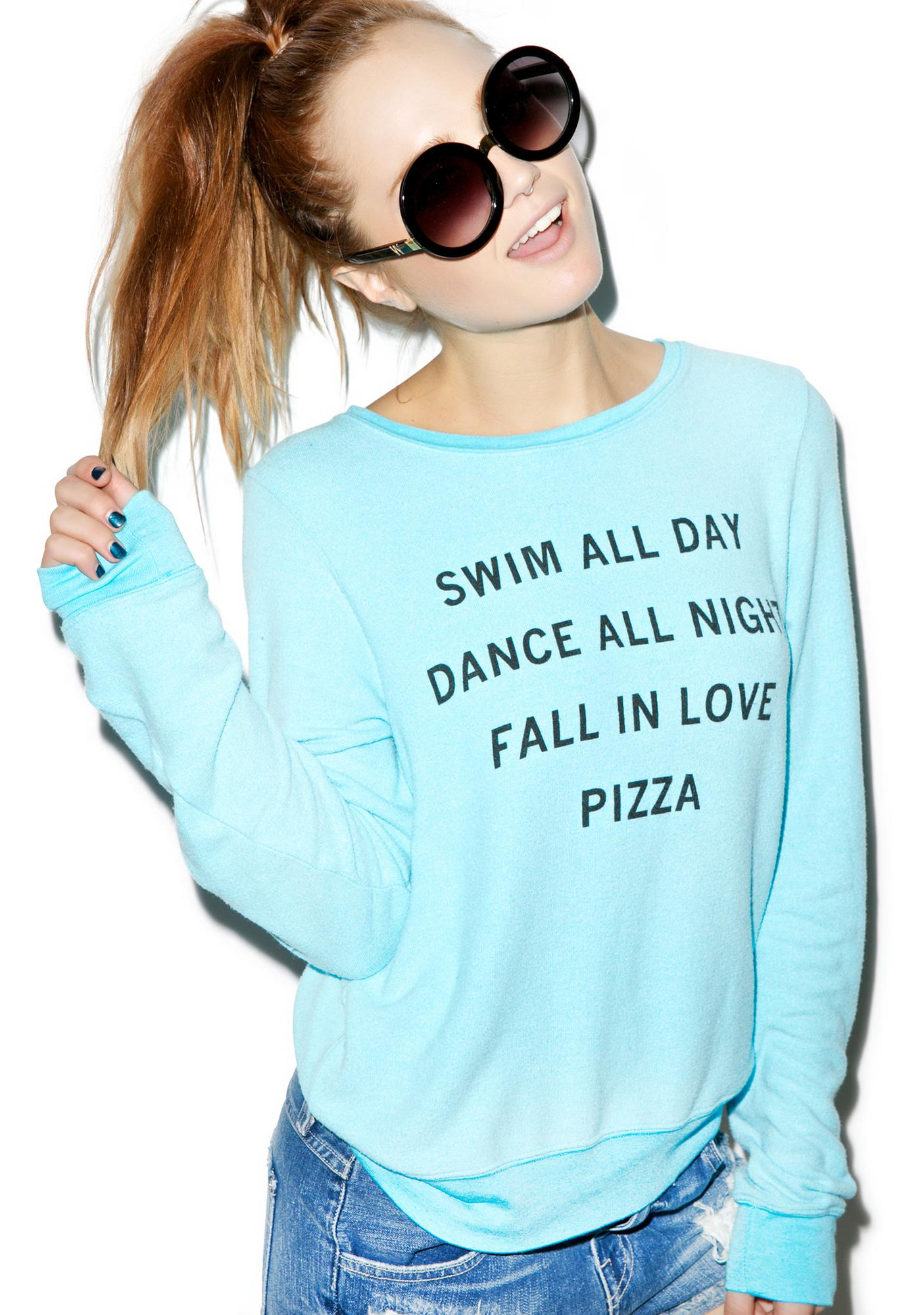 Wildfox Couture Pizza Party Baggy Beach Jumper