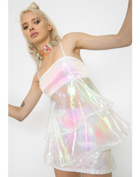 White Cupcake Organza Dress