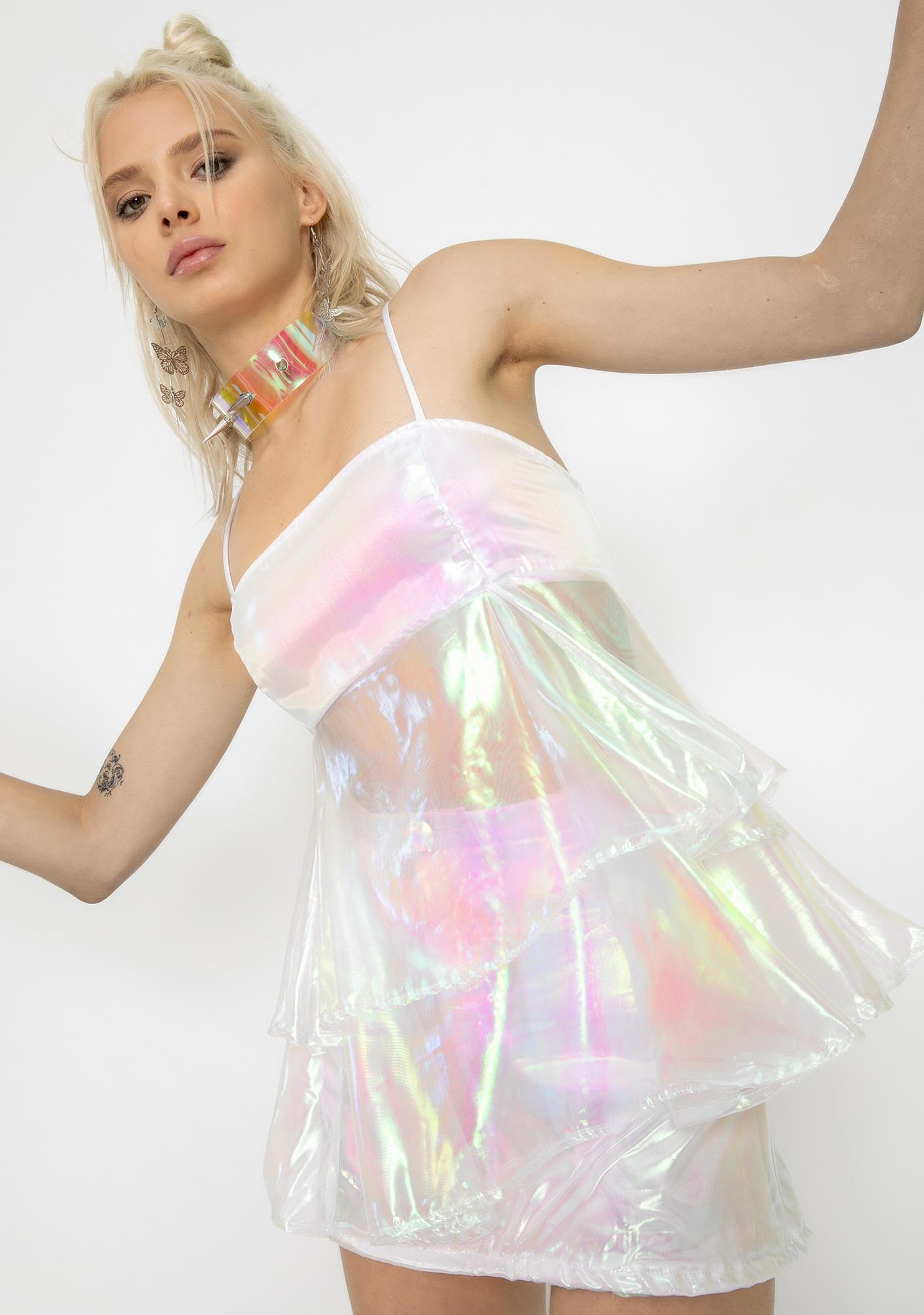 Sparkl Fairy Couture White Cupcake Organza Dress