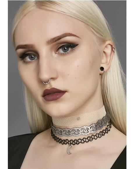 Bleeding Rose Choker Set
