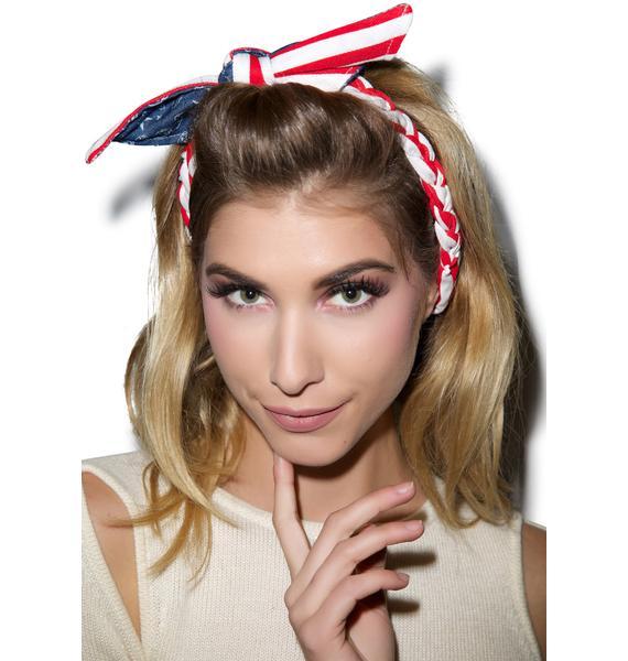 American Pie Bow Headband