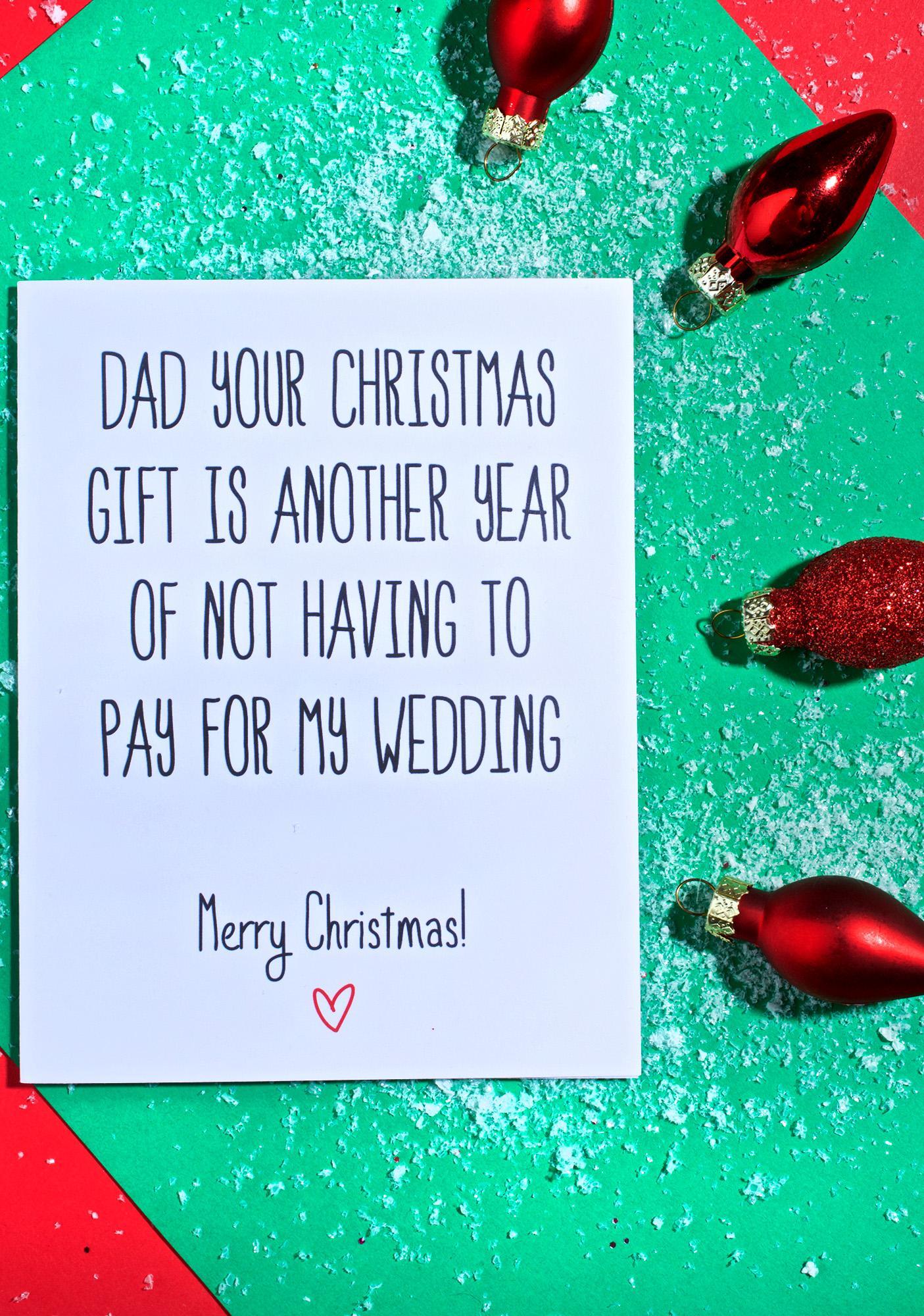 Dear Dad Christmas Card | Dolls Kill