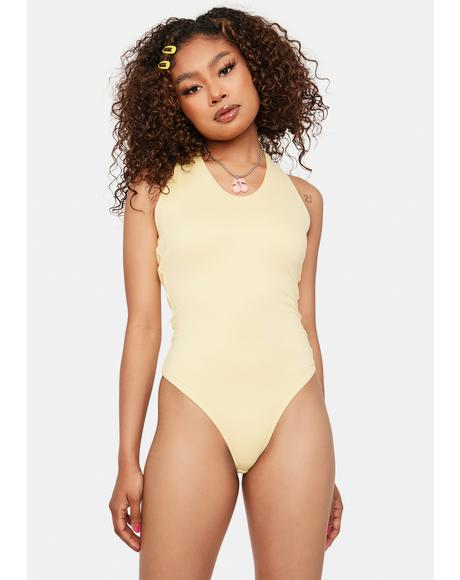 Mellow Starting Trouble Halter Bodysuit