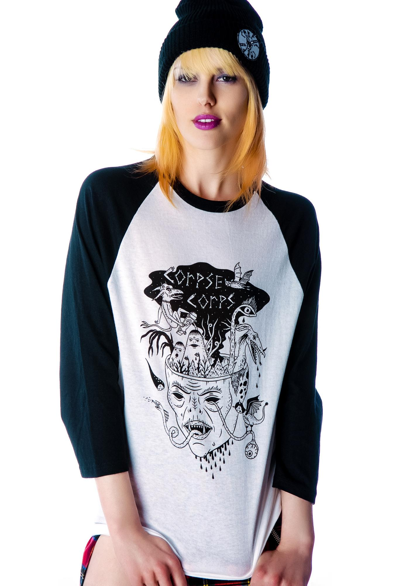 Serpent Demon Baseball Tee