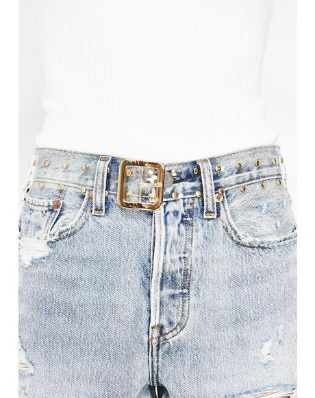 Crystal Clear Studded Belt