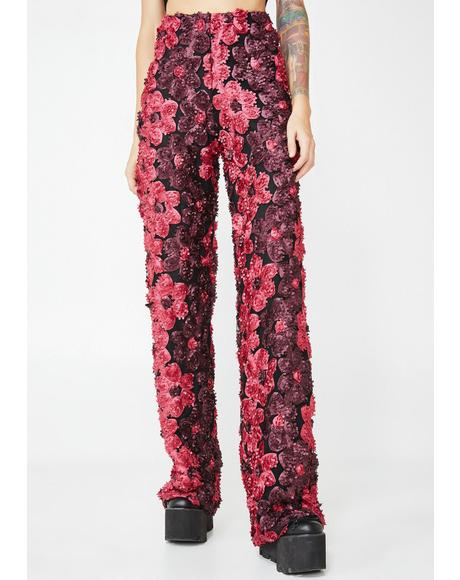 Floral Glory Wide Leg Trousers