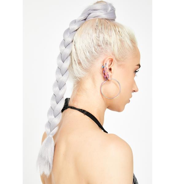 Go Get Glitter Grey Add In Hair Extensions