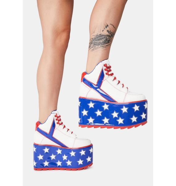 Y.R.U. Star Qozmo Platform Sneakers