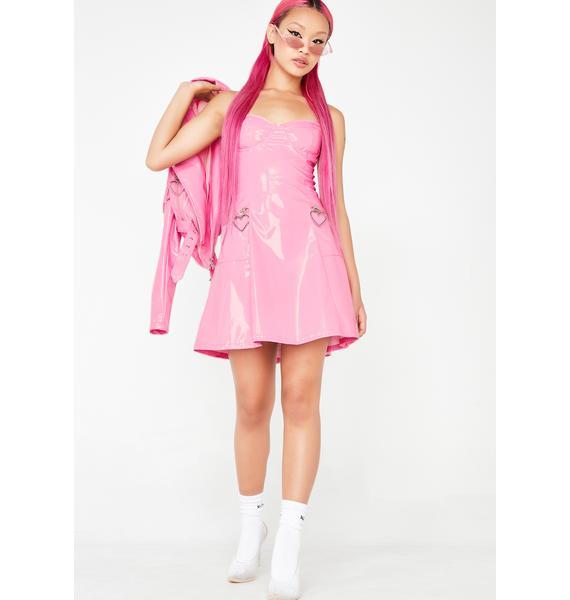 Sugar Thrillz Mad Sass Patent Dress