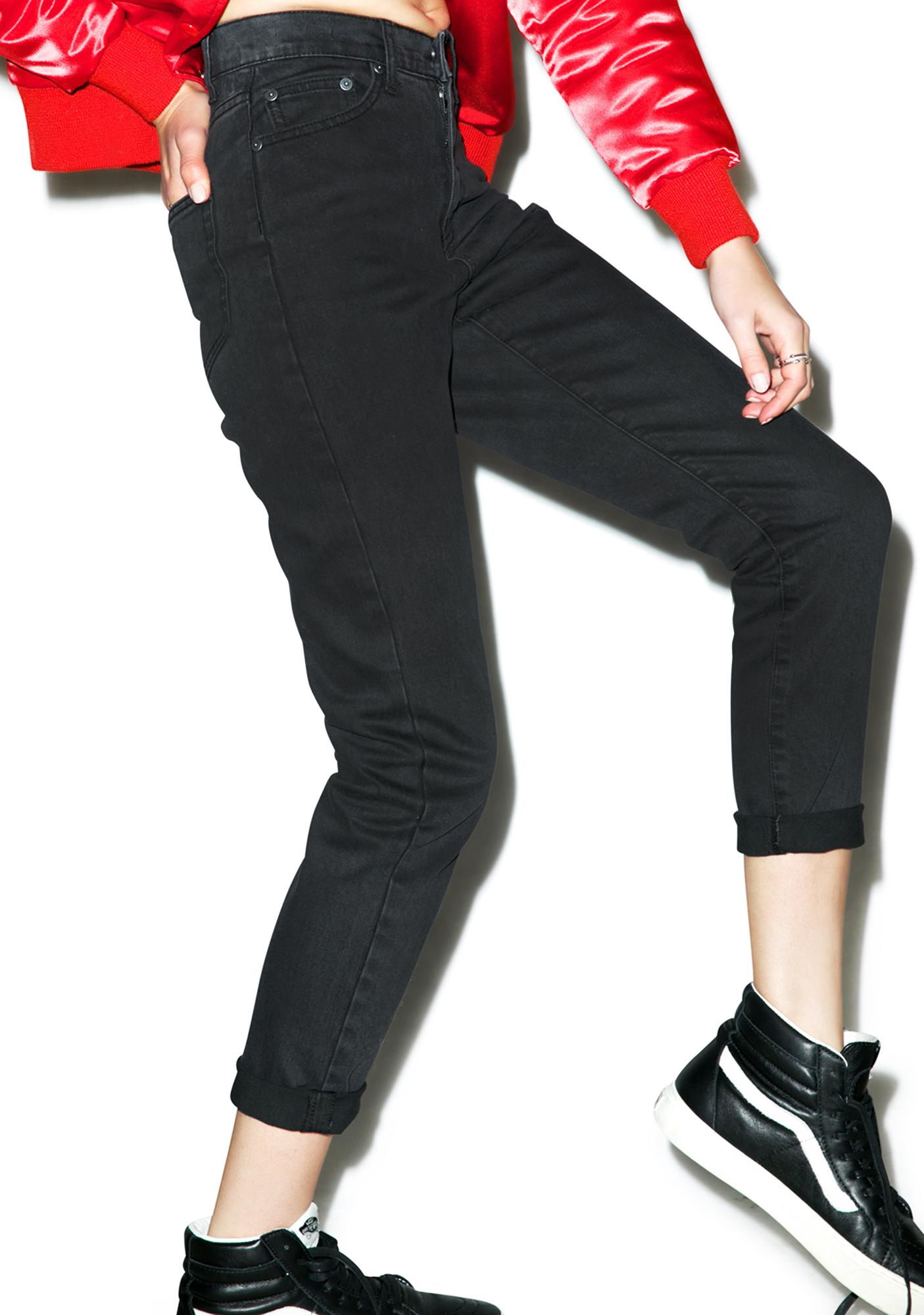 Cheap Monday Donna Mom Jean in Black