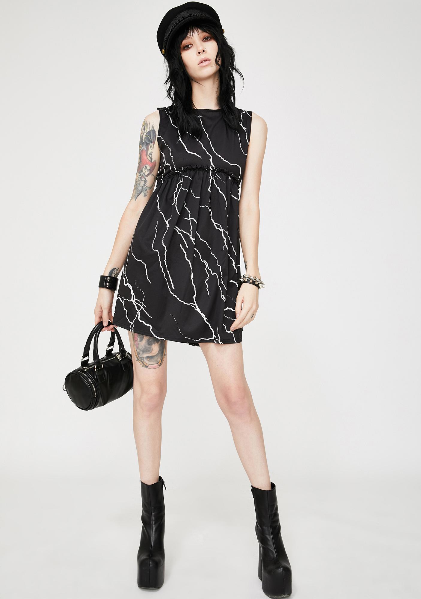Another Reason Lightning Mini Babydoll Dress
