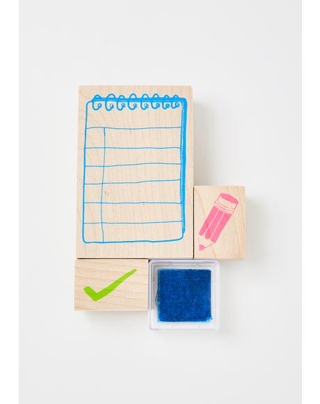Mini List Rubber Stamp Kit