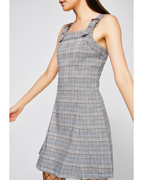 Schoolyard Sweetheart Plaid Dress