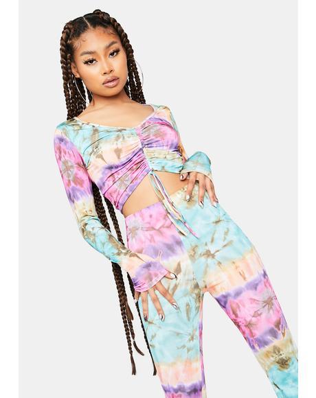 Lilac 21 Questions Tie Dye Pant Set
