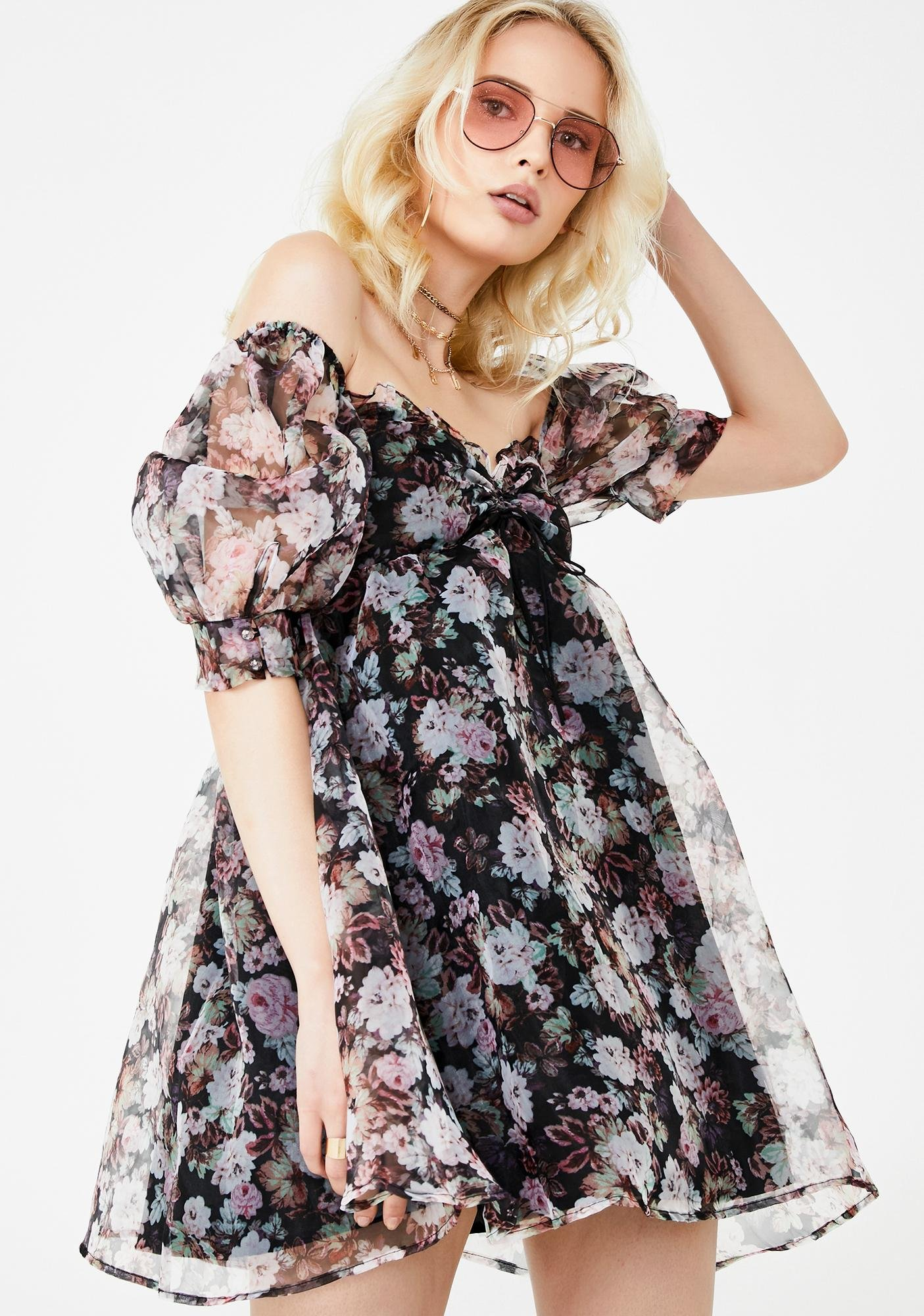 For Love & Lemons Faye Babydoll Dress