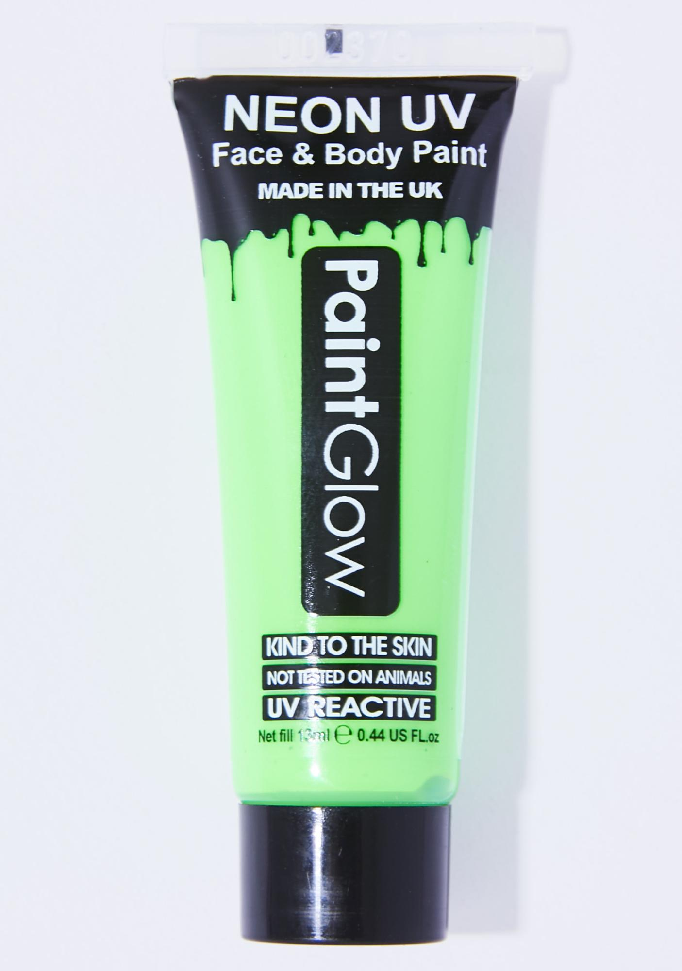 Intense Green Rave On UV Face N' Body Paint