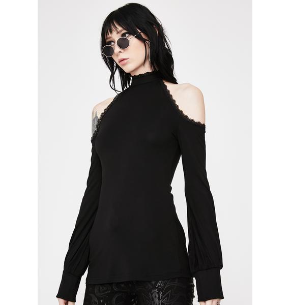 Killstar Kassandra Cold Shoulder Top