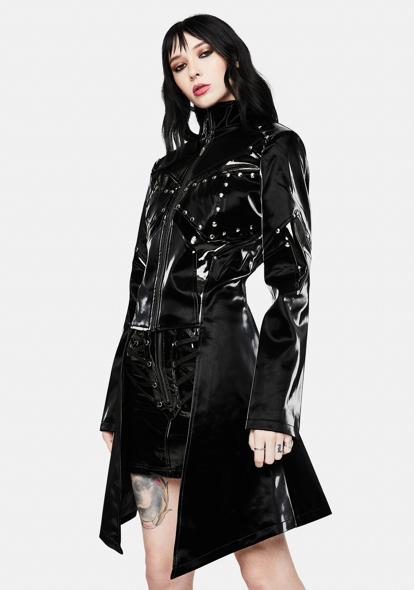 Devil Fashion Black Stud Zip Jacket