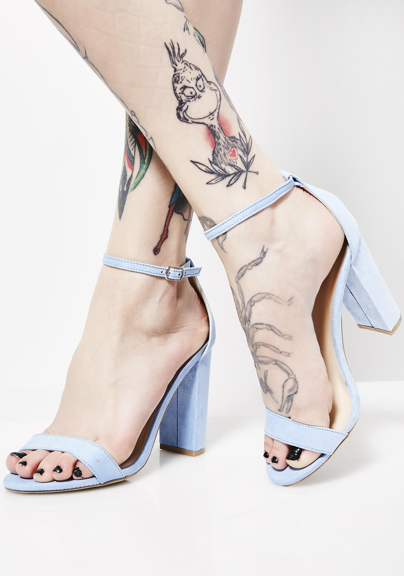 Boo'd Up Ankle Strap Heels