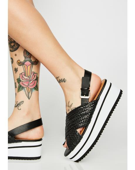 Woven Platform Sandals