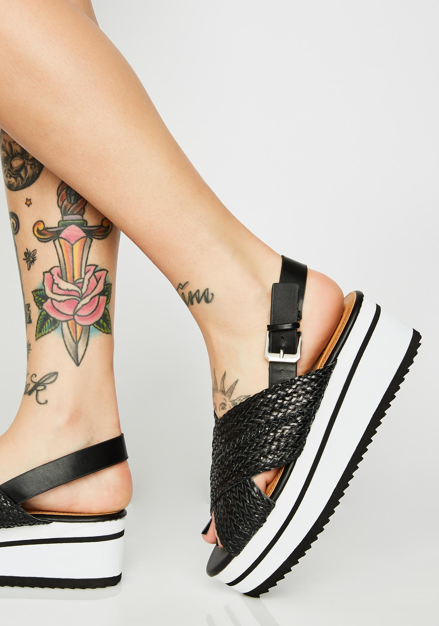 Lust For Life Woven Platform Sandals