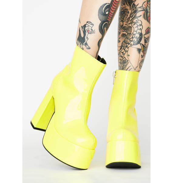 Current Mood Lemon Groovy Delight Platform Boots