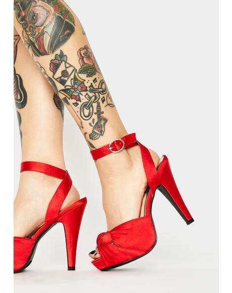 Bettie Peep Toe Heels