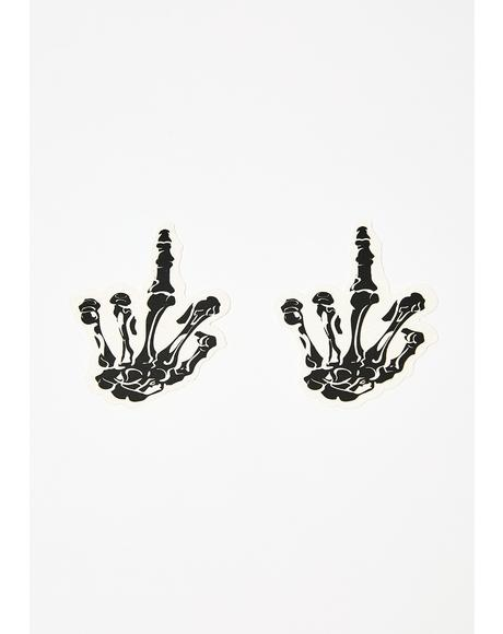 Glitter Skeleton Fingers Pasties