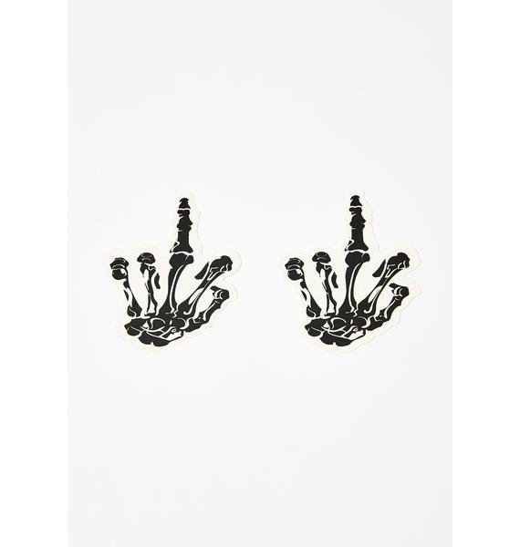 Neva Nude Glitter Skeleton Fingers Pasties