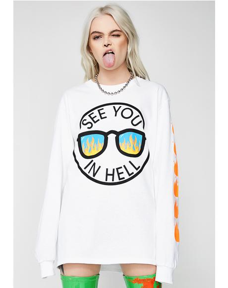 See You In Hell Long Sleeve Tee