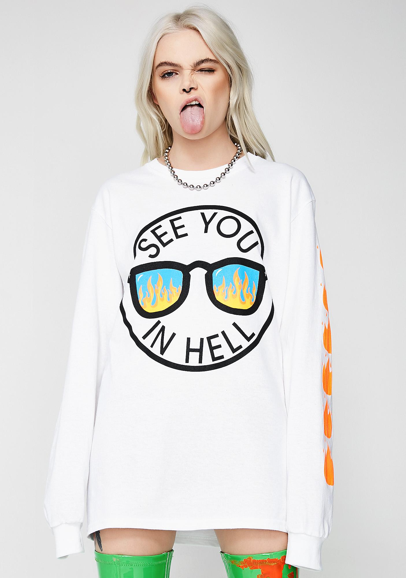 Burger And Friends See You In Hell Long Sleeve Tee
