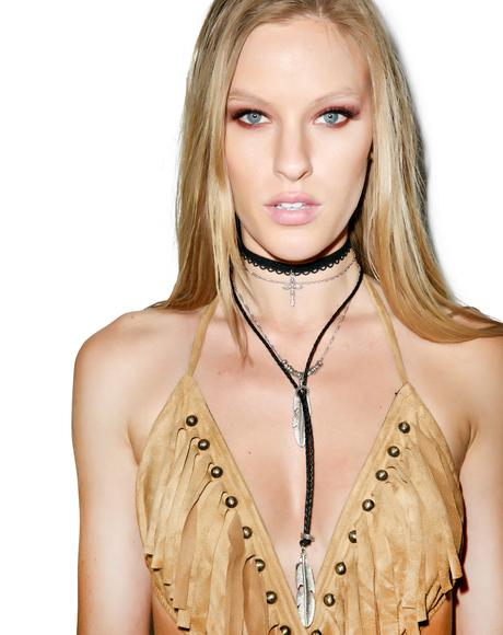 The Heartbreak Leather Necklace