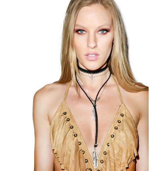 Vanessa Mooney The Heartbreak Leather Necklace