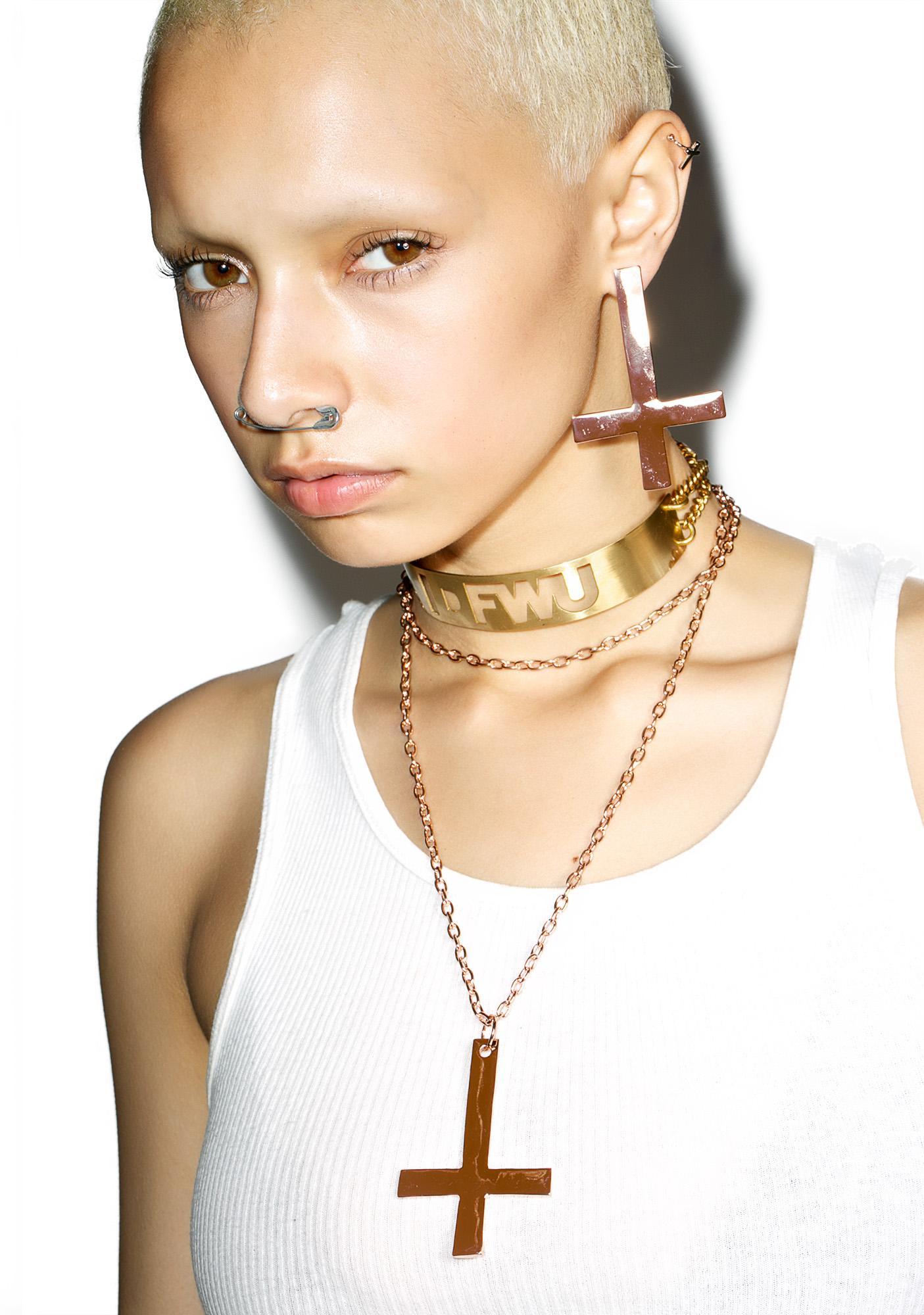 Rock n Rose Kora Inverted Cross Earrings