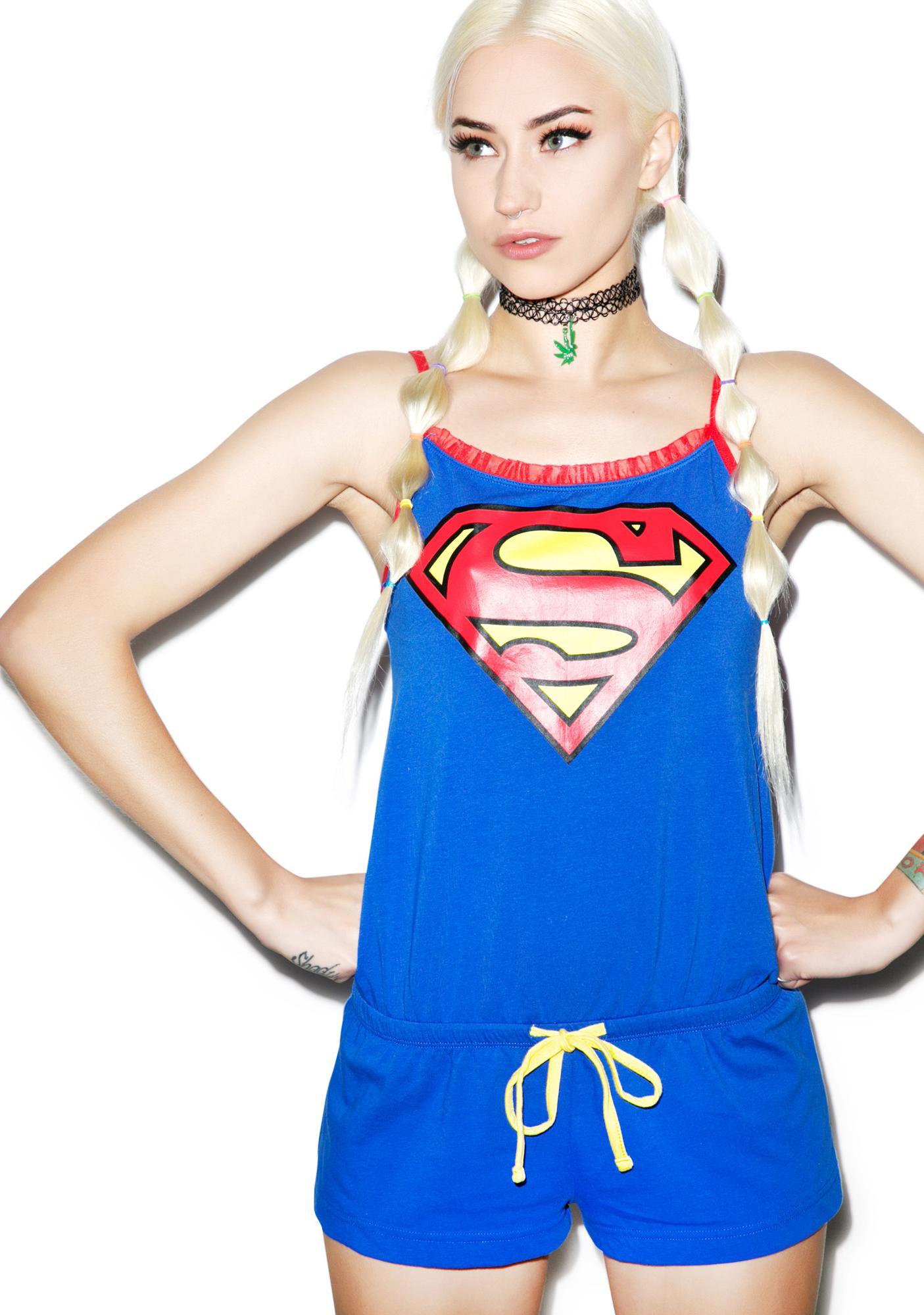 Undergirl Superman Romper