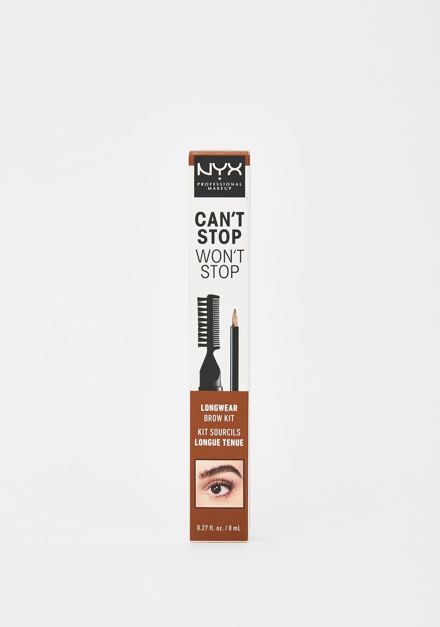 NYX Professional Makeup Ash Brown Can't Stop Won't Stop Longwear Brow Kit