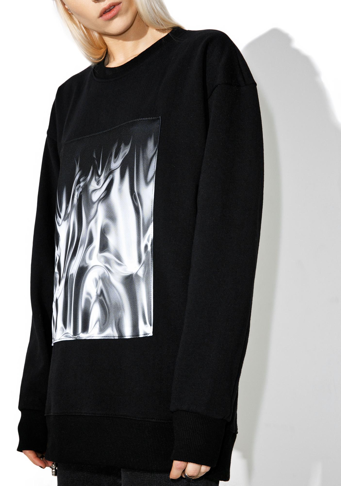 We Are Mortals Liquid Silver Sweatshirt