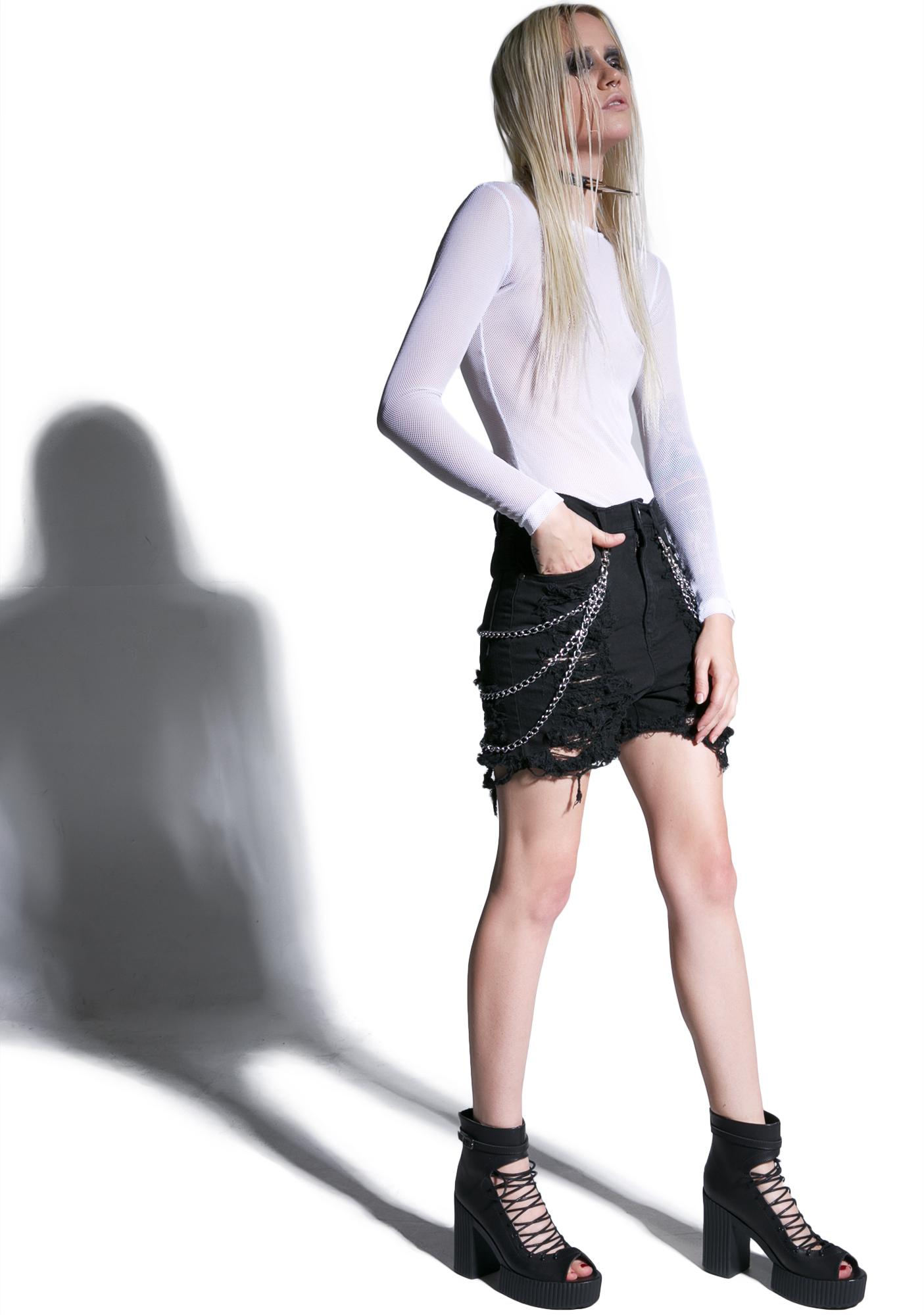 Disturbia Metal Shorts