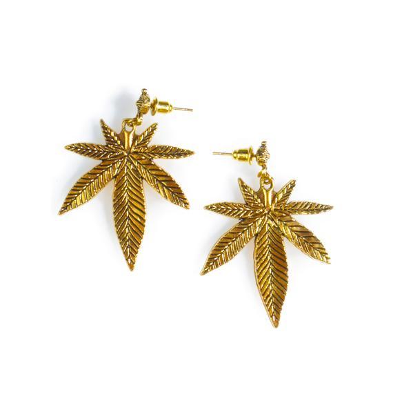 Blunted Objects Top Shelf Leaf Earrings