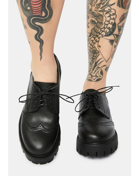 Nefi Vegan Leather Oxfords