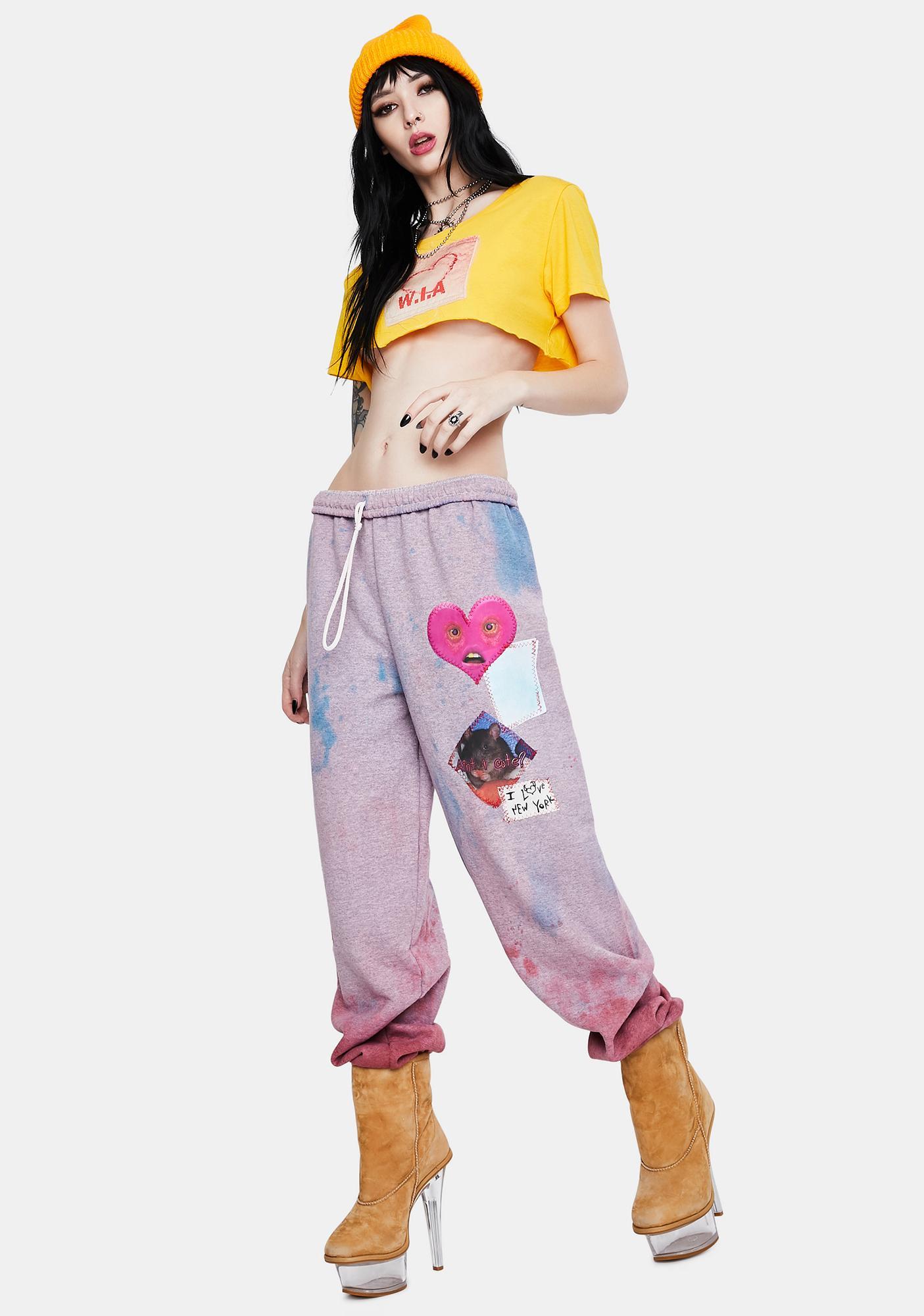 Marsanne Brands NYC QT Patchwork Sweatpants