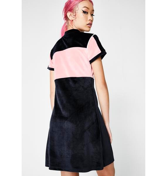 Lazy Oaf Lazy Sports Velour Dress