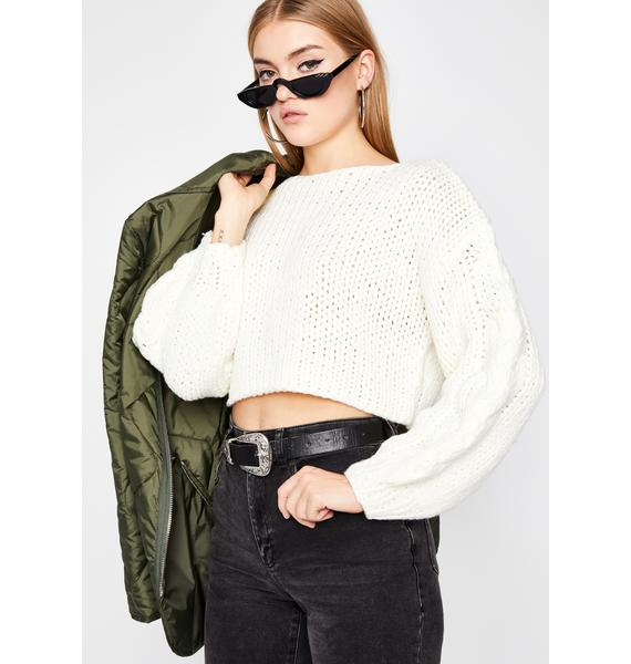 Thicc N' Rich Crop Sweater