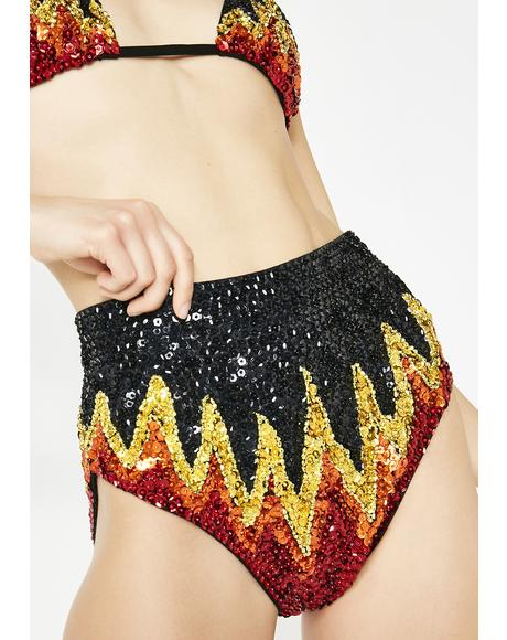 Too Hot To Handle Sequin Shorts