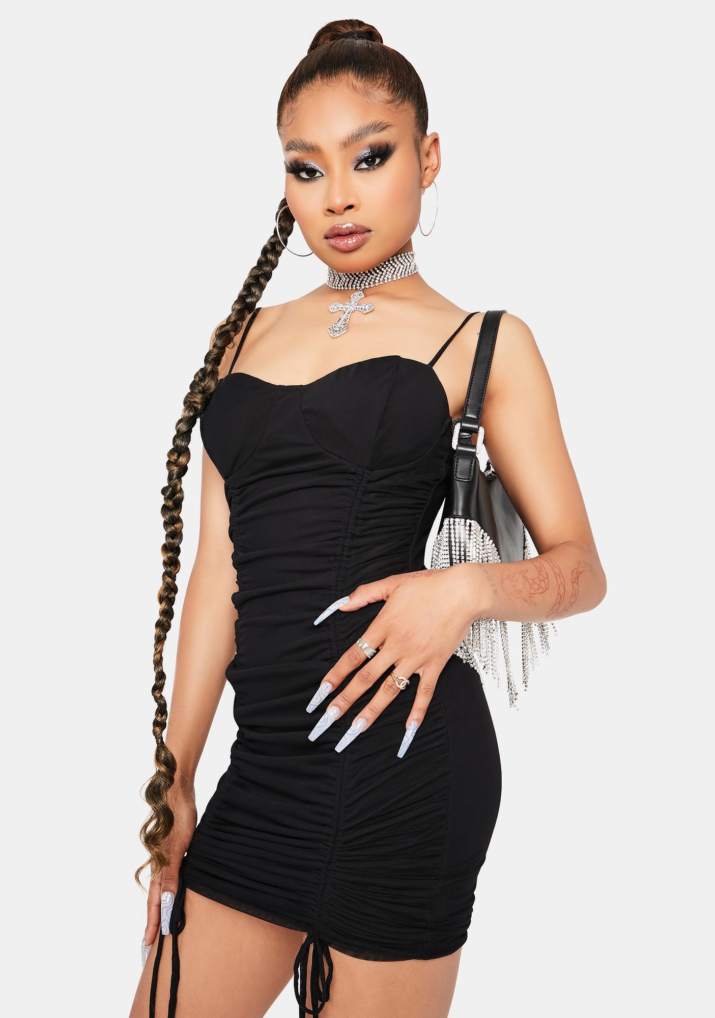Keep Talkin' Ruched Bodycon Dress