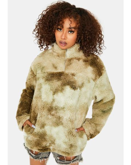 Against The Odds Tie Dye Sherpa Jacket